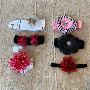 Other - BUNDLE Set of 6 Baby / Infant Headbands / Headwrap